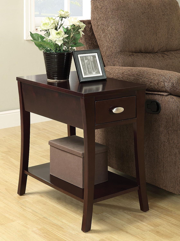 Benzara BM157265 Side Table, Brown