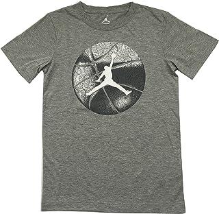 a4c7cb6158c7 Air Jordan Big Boys Tee Shirt Dark Grey Heather Size Large (12-13 Years