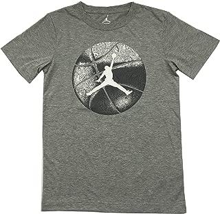 Jordan Air Big Boys Tee Shirt Dark Grey Heather Size Large (12-13 Years)