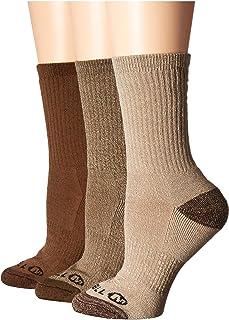 [MERRELL(メレル)] レディースカーディガン・アウター Cushioned Crew Hiker 3-Pack Socks Olive Assorted SM/MD (US Women's 9-11) (26-28cm) One Siz...