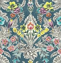 ورق حائط NuWallpaper NU3037 Summer Love Teal Peel & Stick ، متعدد الألوان ، متعدد الألوان