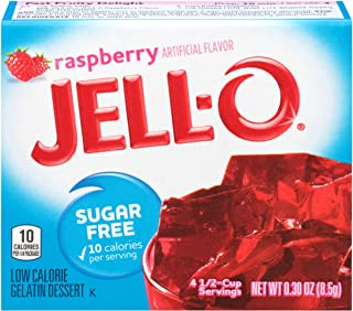 Jell-O Raspberry Sugar-Free Gelatin Mix (0.3 oz Boxes, Pack of 6)