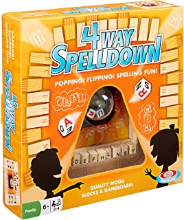Ideal Kids 4-Way Spelldown Family Board Game