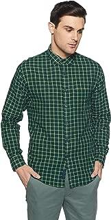 Linen Club Men's Checkered Slim Fit Casual Shirt