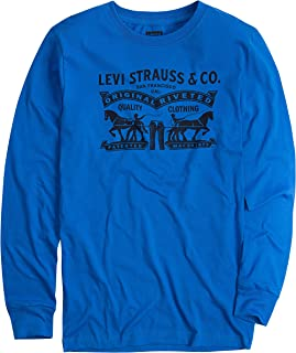 Boys' Long Sleeve Graphic Logo T-Shirt