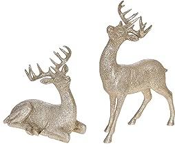 christmas deer statue