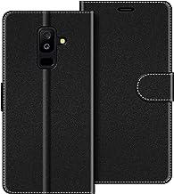 COODIO Funda Samsung Galaxy A6 Plus con Tapa, Funda Movil Samsung A6 Plus, Funda Libro Galaxy A6 Plus Carcasa Magnético Funda para Samsung Galaxy A6 Plus 2018, Negro