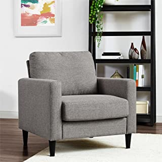 REALROOMS Janella Mid-Century Modern Accent Arm Chair, Gray