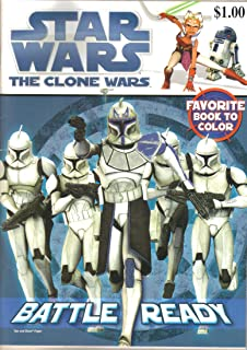 Star Wars The Clone Wars, Battle Ready, Coloring Book