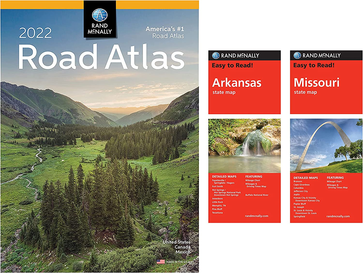Rand Sale McNally 2022 Road Excellent Atlas State Maps and Arkansas Missouri