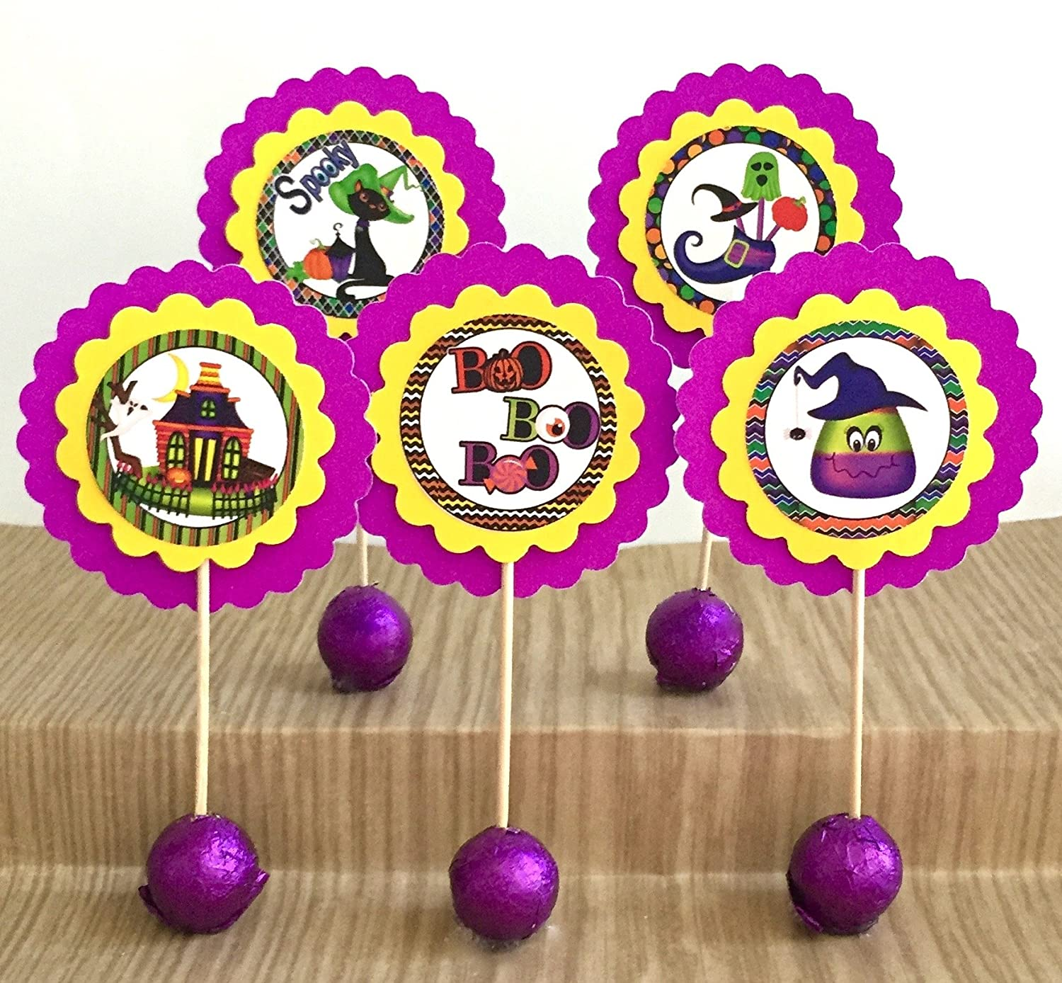 Set Max 88% OFF Attention brand of 12 Cupcake Toppers Halloween