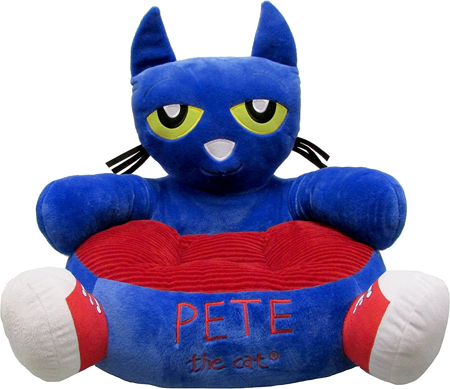 Kids Preferred 91206 Pete the Cat Soft Reading Chair, Multicolor