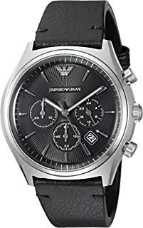 Emporio Armani Men's Quartz Watch, Analog Display and Leather Strap AR1975