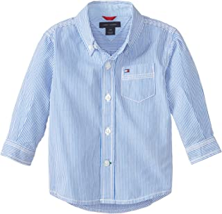 baby blue striped polo shirt