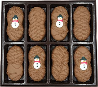 Philadelphia Candies Milk Chocolate Covered Nutter Butter Cookies, Winter Holiday Snowman Net Wt 8 oz