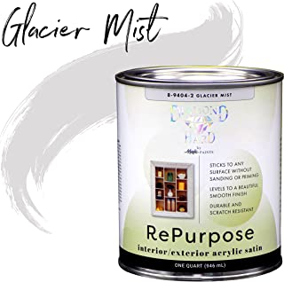 Majic Paints 8-9404-2 Diamond Hard Interior/Exterior Satin Paint RePurpose your Furniture, Cabinets, Glass, Metal, Tile, Wood and More and More, 1-Quart, Glacier Mist