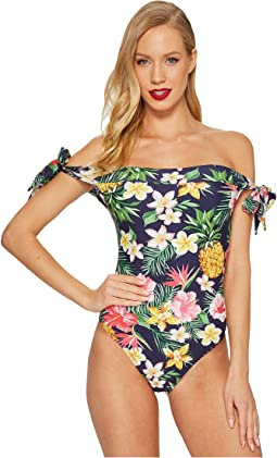 Unique Vintage - Off Shoulder Hermosa Swimsuit