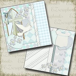 BAPTISM BOY - Premade Scrapbook Pages - EZ Layout 423