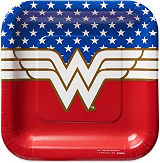 American Greetings Wonder Woman Paper Dessert Plates,8-Count