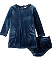 Splendid Littles Velour Long Sleeve Dress (Infant)