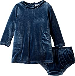 Splendid Littles - Velour Long Sleeve Dress (Infant)