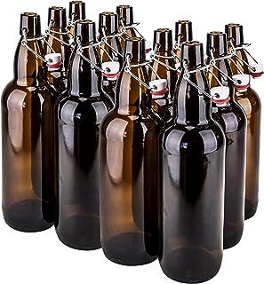CASE OF 12-32 oz. EZ Cap Beer Bottles - AMBER - VINTAGE STYLE - HOME BREWING