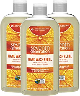 Seventh Generation Hand Wash Refills, Mandarin Orange & Grapefruit, 24 oz, 3 Pack
