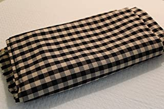 Black and Cream Check Fabric by The Yard