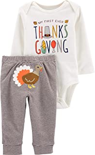 Baby Boys 1st Thanksgiving Outfit My 1st Thanksgiving Romper + Pant Clothing Set