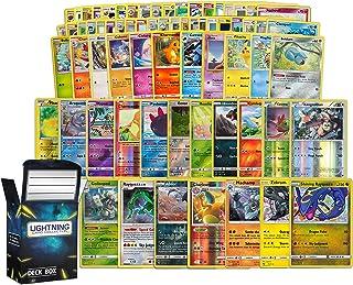 Holo Rare Pokemon Bundle- 50+ Cards= 50 Cards + 5 foil Cards, 5 foil/Holographic Rare Cards, Plus a Lightning Card Collect...