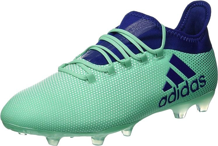 Adidas x 17.2FG Sol Dur Adulte 44Chaussures de Football Chaussures de Football (Sol Dur, Adulte, Masculin, Semelle avec Chevilles, Bleu, Vert, Monótono)