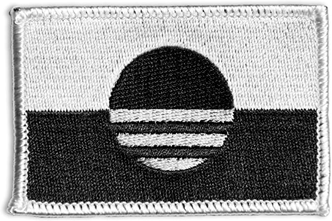Urban Black White United States US Shoulder Flag Iron//Sew on Patch