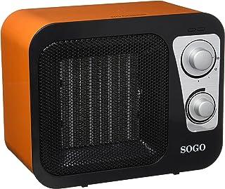 Sogo CAL-SS-18285-R Calefactor PTC diseño radio, 1800 W, Otro, Naranja