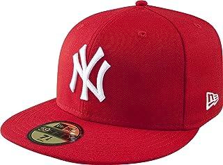 adidas Men's 59Fifty New York Yankees Cap, Red, 7 7/8