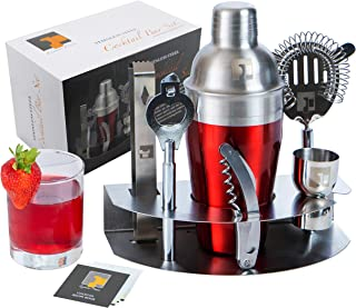 Eximius Power Professional Bartender Cocktail Shaker Set | 7pc Bar tools kit & Drink mixer Accessories | Premium & Durable 304 Stainless Steel | Great Mixology Martini Gift set | Bonus Recipe Booklet