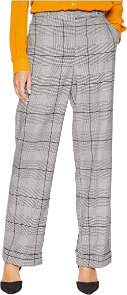 Bold Glenn Plaid Wide Leg Cuffed Pants