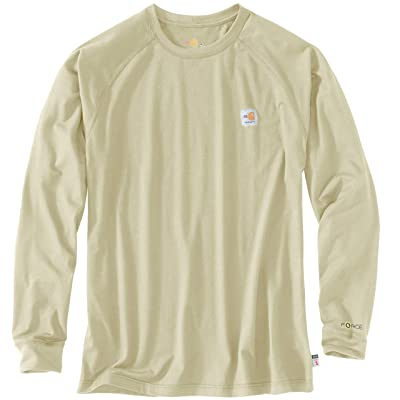 Carhartt Flame-Resistant (FR) Force Long Sleeve T-Shirt (Khaki) Men