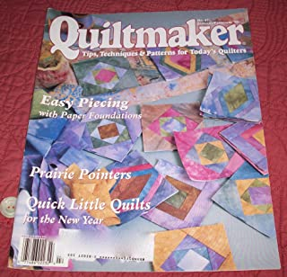 Quiltmaker - Tips, Techniques & Patterns for Today's Quilters #47 (Vol. 15, No. 1) -January/February 1996