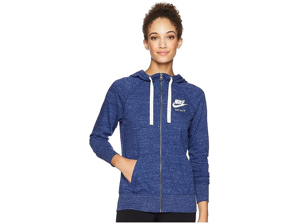 Nike Gym Vintage Full Zip Hoodie (Blue Void/Sail) Women