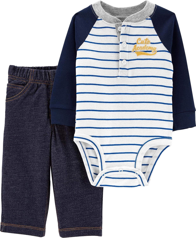Carter's Baby Boy 2-Piece Henley Bodysuit Pant Set