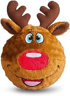 fabdog Reindeer faball Squeaky Dog Toy