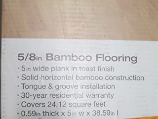 Horizontal Toast 5/8 in. Thick x 5 in. Wide x 38-5/8 in. Length Solid Bamboo Flooring (24.12 sq. ft. / case)