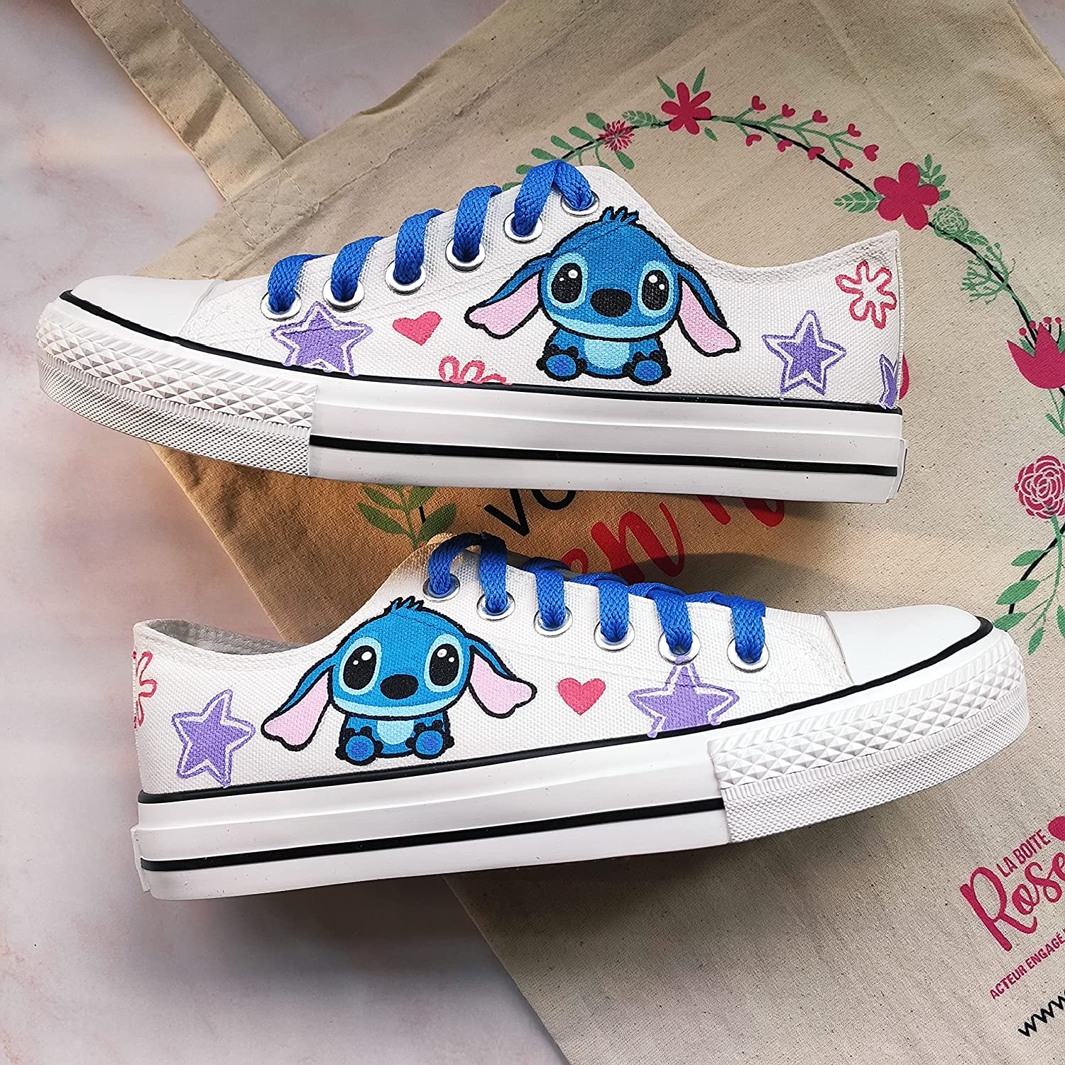 Lilo Stitch Shoes Custom Oklahoma City Mall For S Hand Japan's largest assortment Women Painted