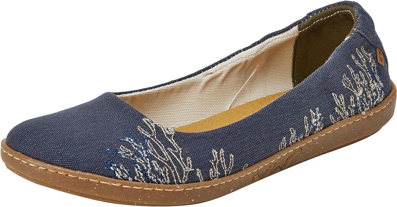 El Naturalista Womens N5300t Seaweed Canvas Ocean Coral Ballet Flat