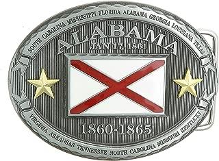 Alabama AL State Flag Western Metal Belt Buckle