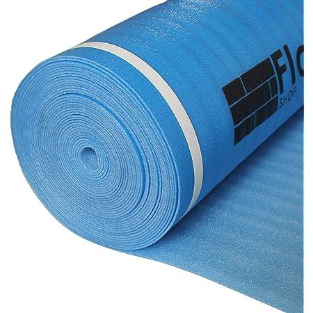 FLOORLOT SHOP. FLOORS. DELIVERED. FL-001-2 Blue Series Laminate & Hardwood Flooring Underlayment with Vapor Barrier (200sqft Roll, 3mm Thick)