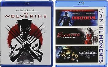 Blu-ray Super Marvel Movie Bundle The Wolverine (Blu-ray + Digital HD) + Daredevil (Director's Cut)/Elektra (Director's Cut)/League Extraordinary Gentleman 4-Movie Set