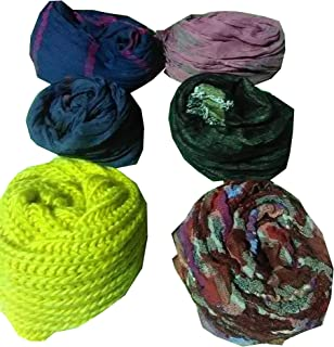 6-Pack Women's Fashion Long Shawl Big Grid Winter Warm Lattice Large Scarf-Assorted Style,Design,Size & Multicolor.