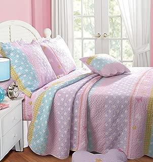 Greenland Home Polka Dot Stripe Quilt Set, Twin