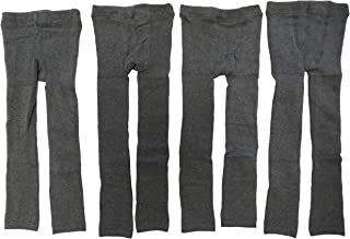 Unbekannt 4er Pack Dunkelgraue Thermo Unisex Jungen und Mädchen Leggings Größe 74-134